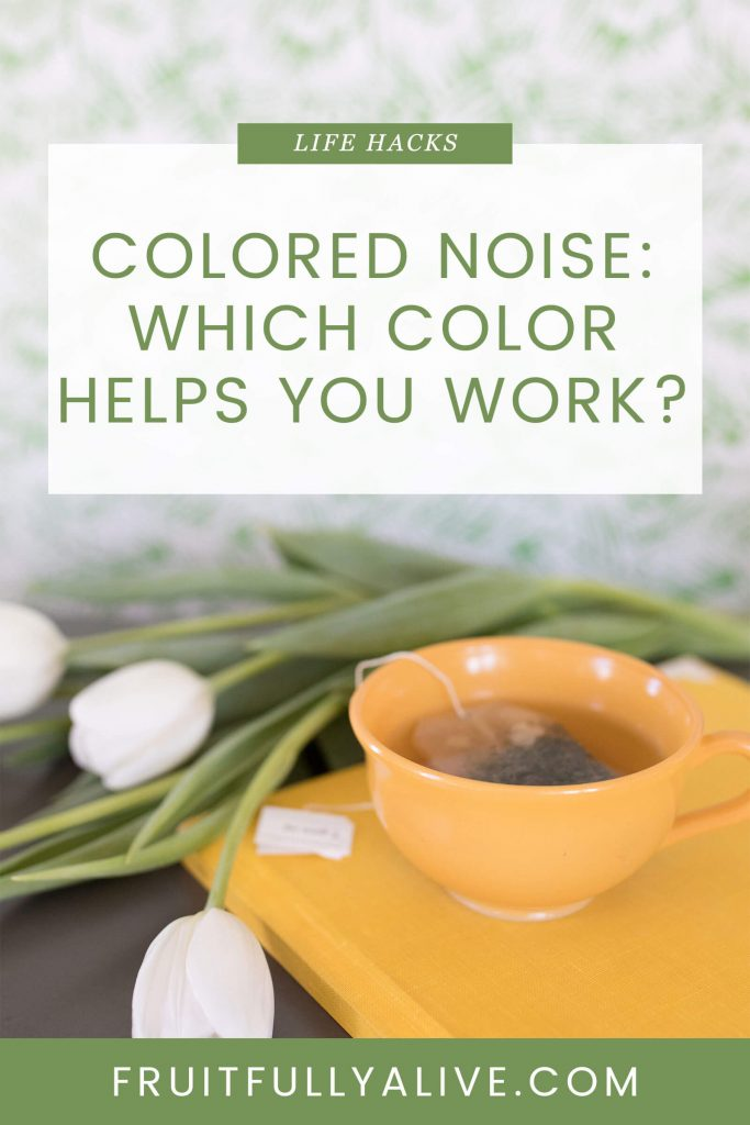 colored noise | productive work | productivity | self-employment