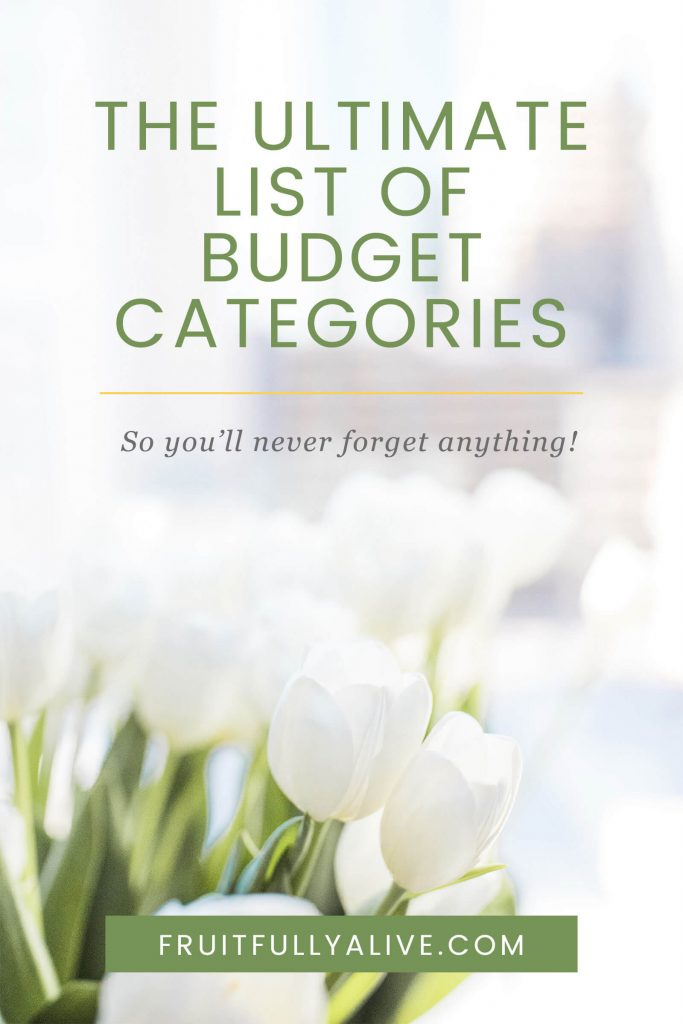 | creating a budget | budget categories | budget topics