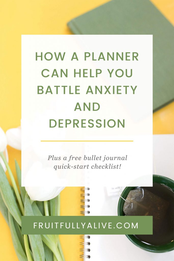 planner | anxiety | depression | bullet journal | bujo | battle anxiety | battle depression | productivity | organization