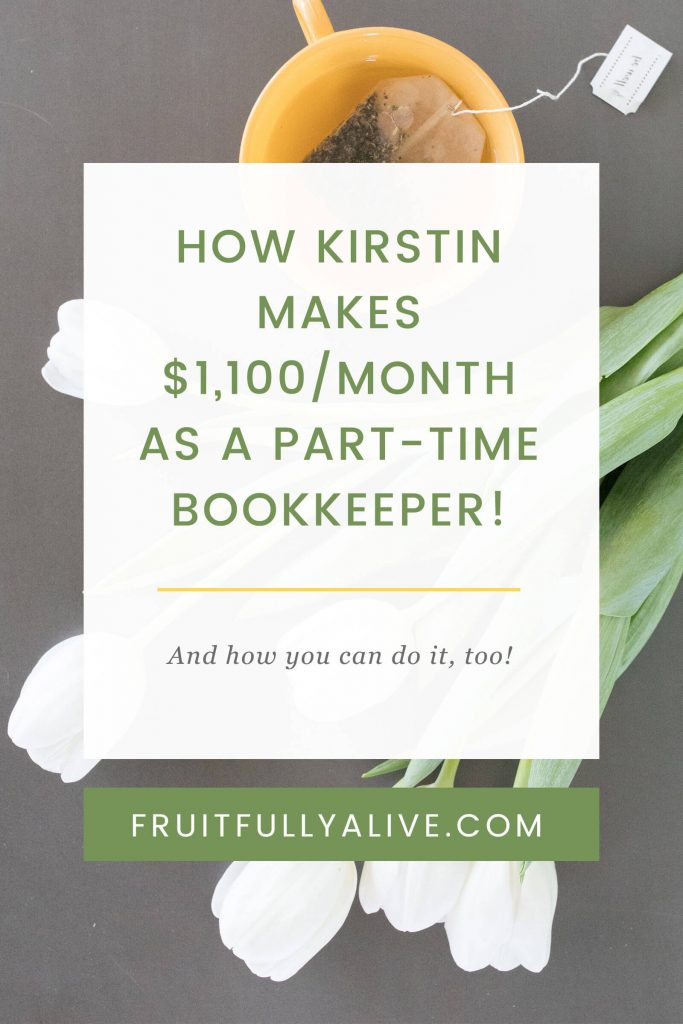 How kirstin makes 1100month as a part time bookkeeper self employed bookkeeping home based business work from home bookkeeper malvernweather Image collections