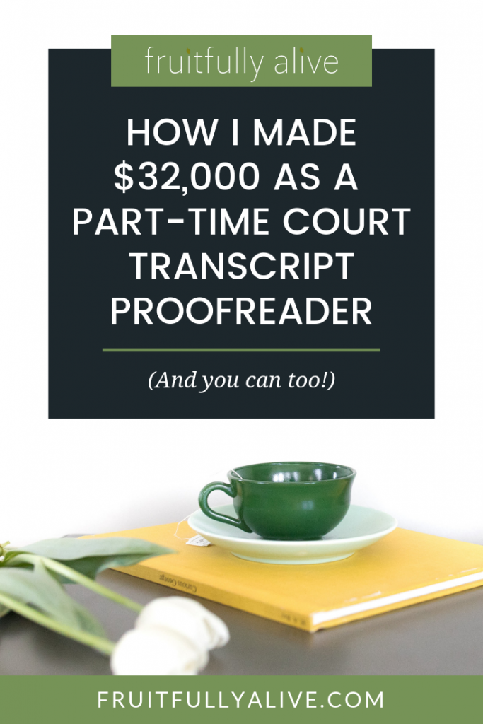 make money part time | proofreading | court reporters | at-home business idea |