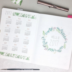 <b>Yearly Log by Maren Janka</b></br>It's simple and beautiful and a lovely way to start a new notebook (and year)
